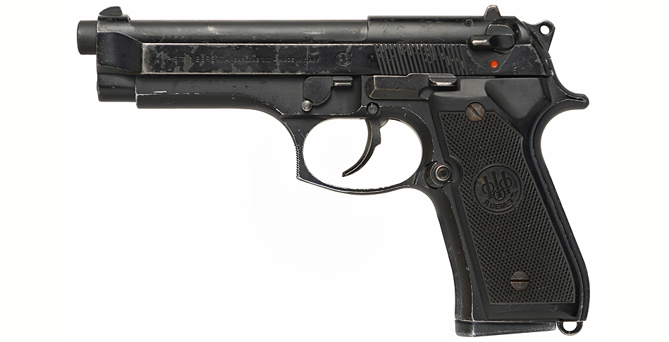 The actual Beretta 92FS used by Gibson in three of the four Lethal Weapon movies.