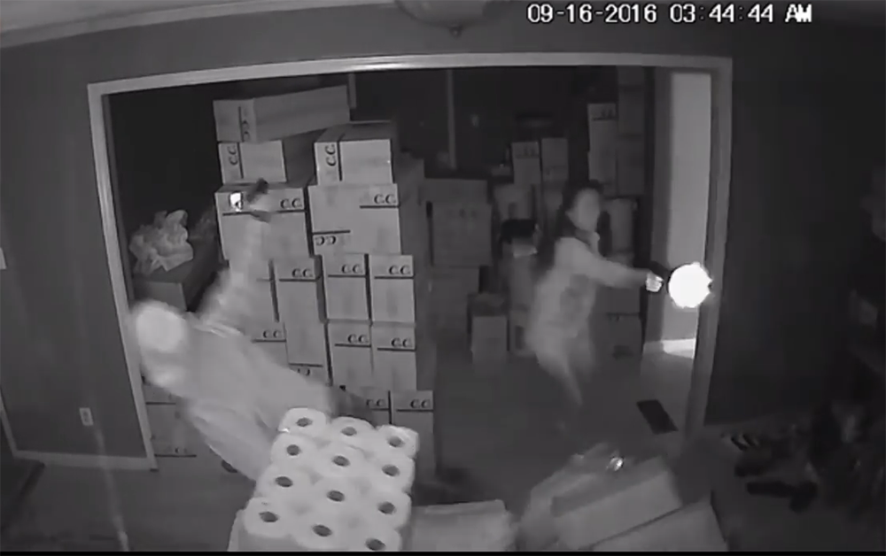 Video: Woman with Gun Thwarts Home Invaders