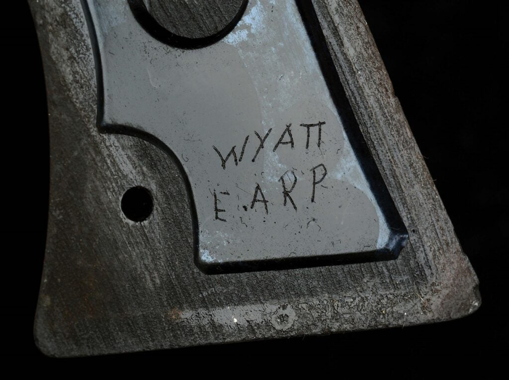 One of the grips has Earp's name carved in it.
