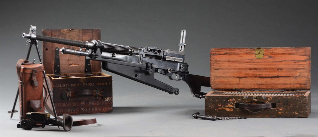 This Colt Automatic Machine Gun, Model of 1909 of WWI vintage comes with a number of accessories.