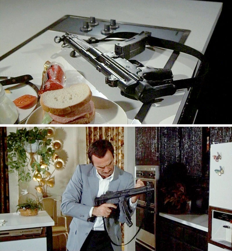In the top photo we see Stick loads his MP5A3 with two magazines taped together jungle style.