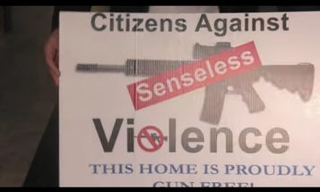 """""""This Home Is Proudly Gun Free!"""" Sign Stunt Hits Bull's-eye"""