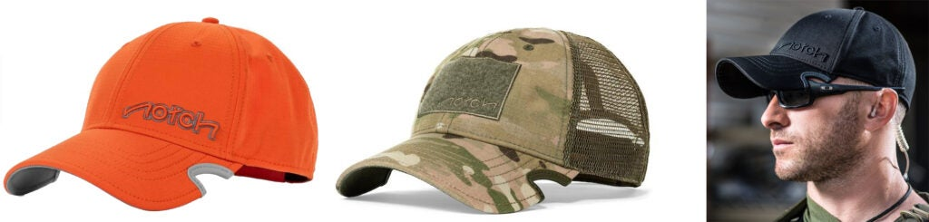 Several camo options are available, as well as forward cuts for larger framed glasses, and rearward cuts for wraparounds.