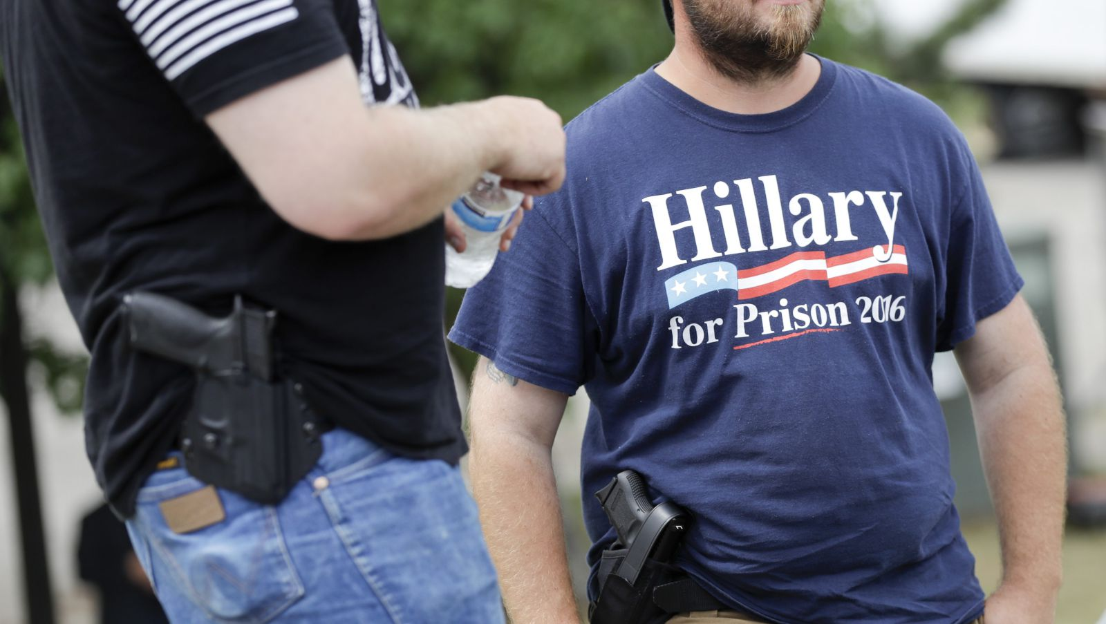 Open Carriers March with Guns Outside RNC