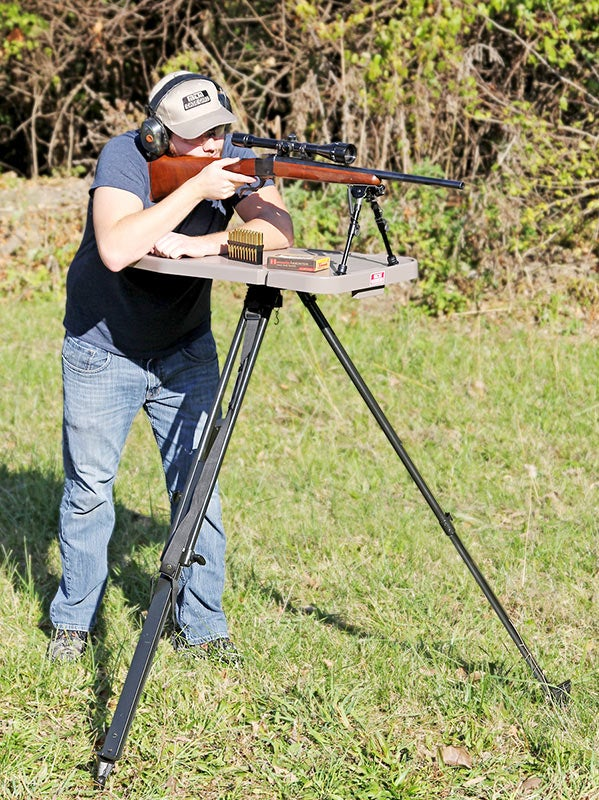 MTM Case-Guards High-Low Shooting Table