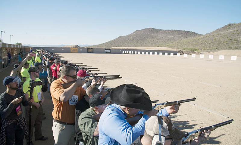1000 Rifles Fired in Unison For Gun Rights