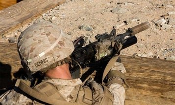 Marines Testing Rifles with Suppressors