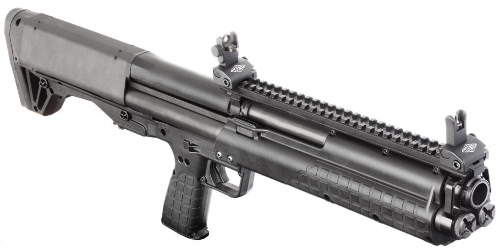 The Kel-Tec KSG shotgun.