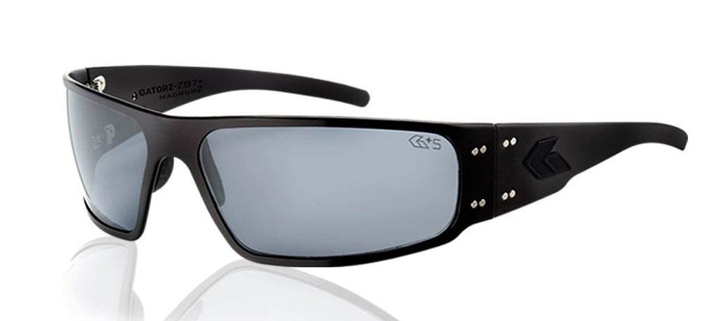 The Gatorz Magnum Z glasses with Smoke colored lenses.