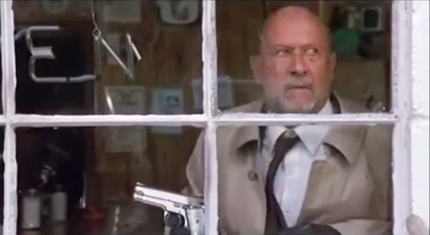 Loomis with his S&W M639 9mm pistol in *Halloween 4*.