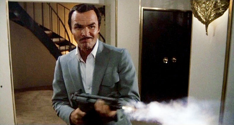 Stick uses the MP5 to take out the henchmen who kidnapped his daughter.