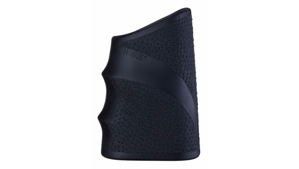 A slip-on grip sleeve from Hogue. Here's a tip: these things are often really tight and difficult to get on a gun. If you spray the interior of the grip with a little hairspray it will slide on much e