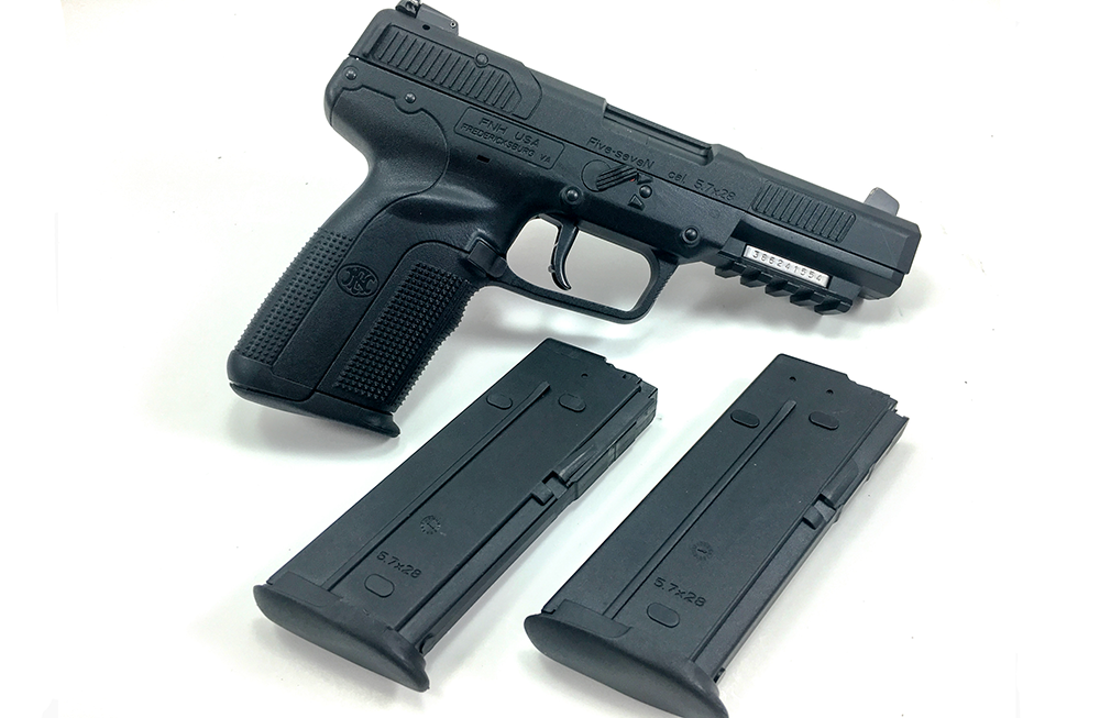 The Five-SeveN ships with three 20-round magazines.