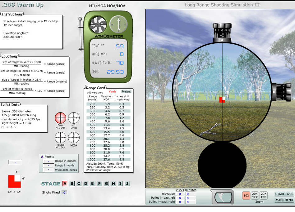Shooting Simulator Lets You Practice Ranging Targets With Your Scope