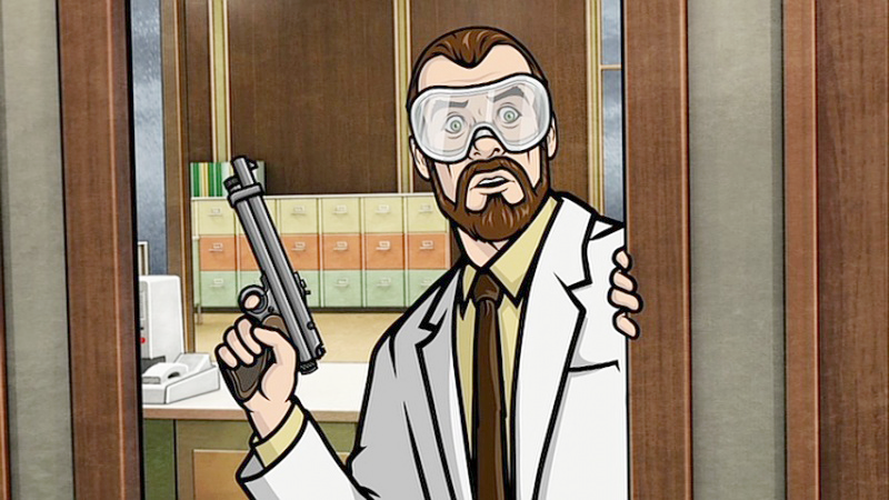 Dr. Krieger and his tranquilizer gun.