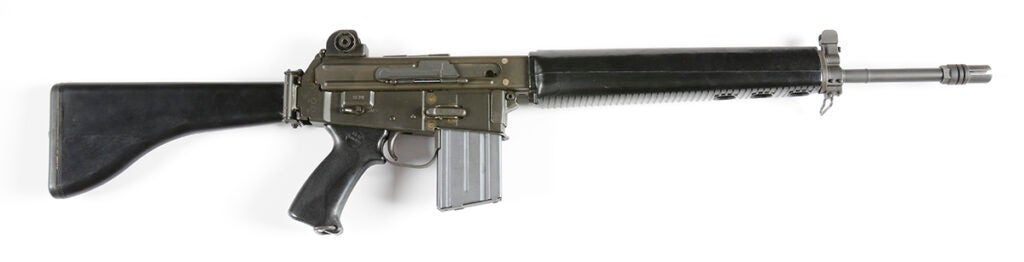 The AR-18 rifle was designed by Eugene Stoner as an easier-to-produce followup to the AR-15.
