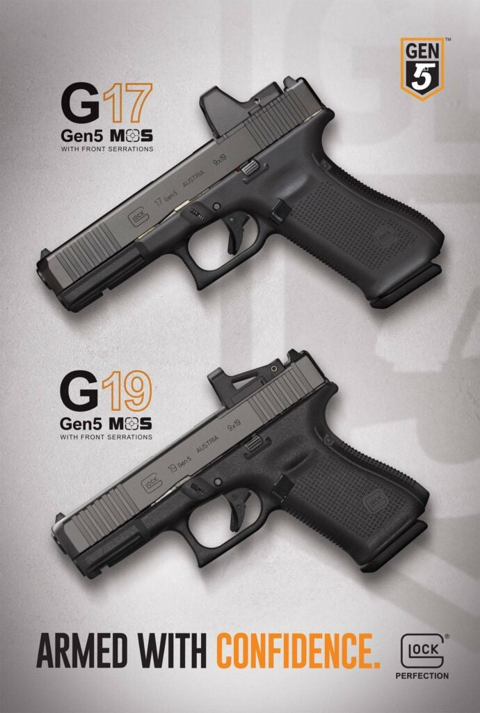 Glock has also released images of its new Gen5 MOS optics ready pistols the Gen5 MOS G17 and the Gen 5 MOS G19.