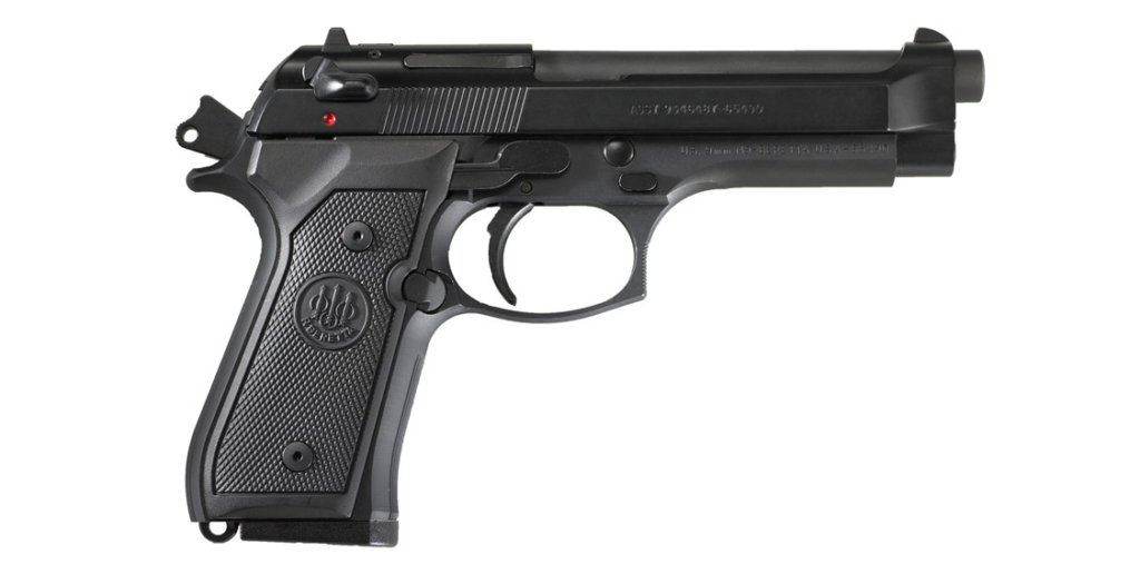 The Beretta M9, the U.S. Military sidearm since 1985, is an example of a pistol.