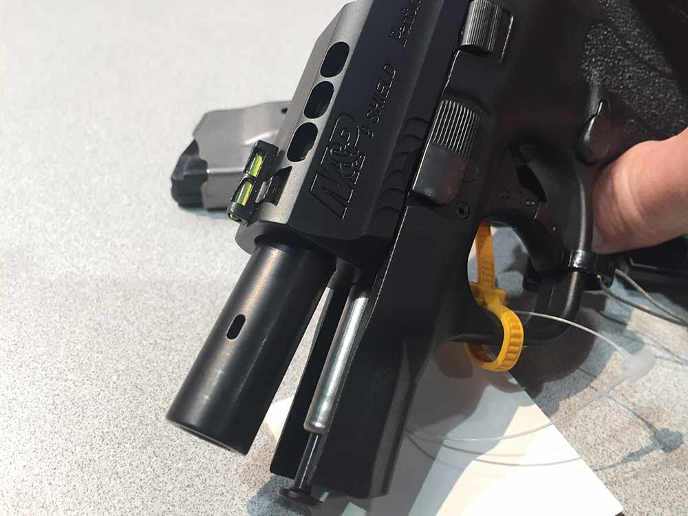 smith and wesson performance shield ported barrel
