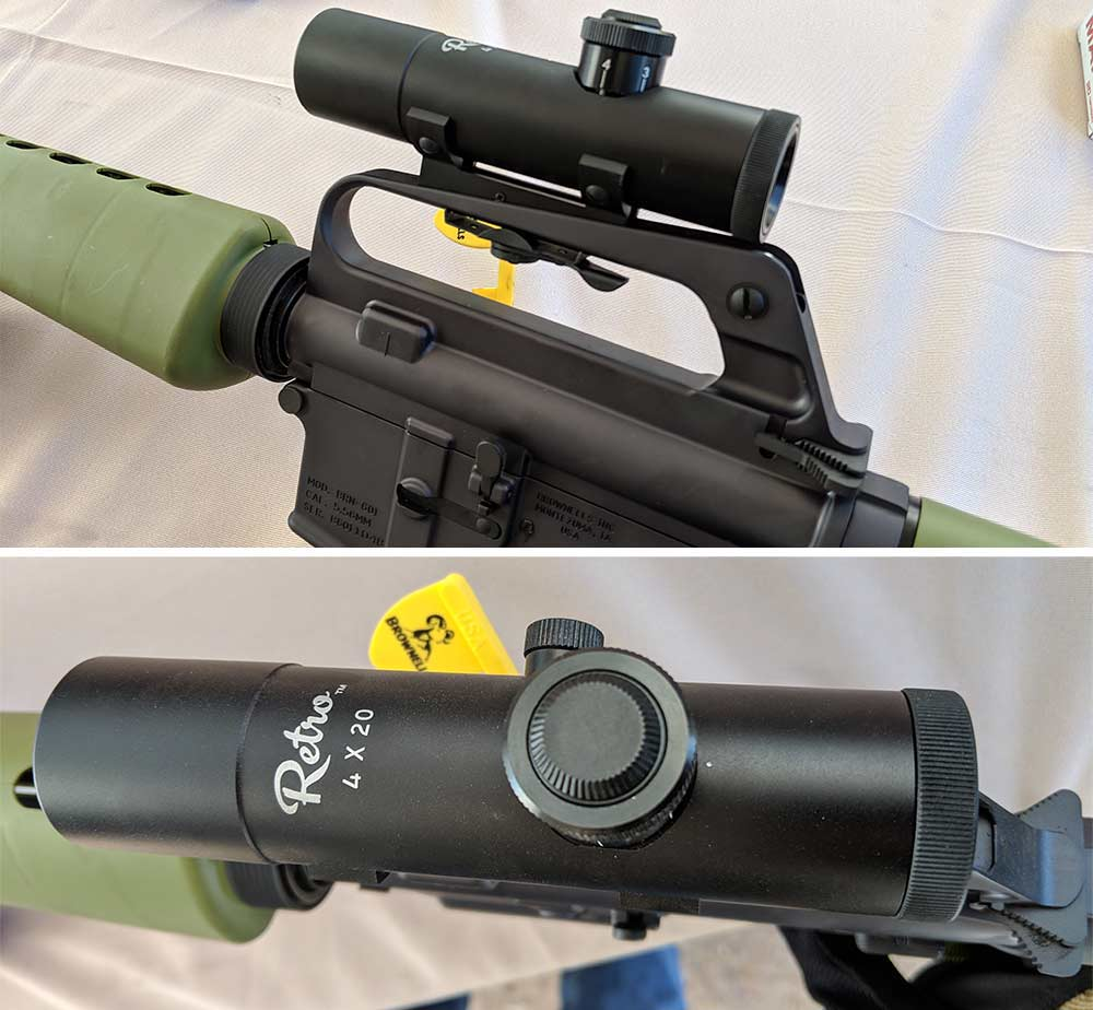 brownells retro optics at shot show