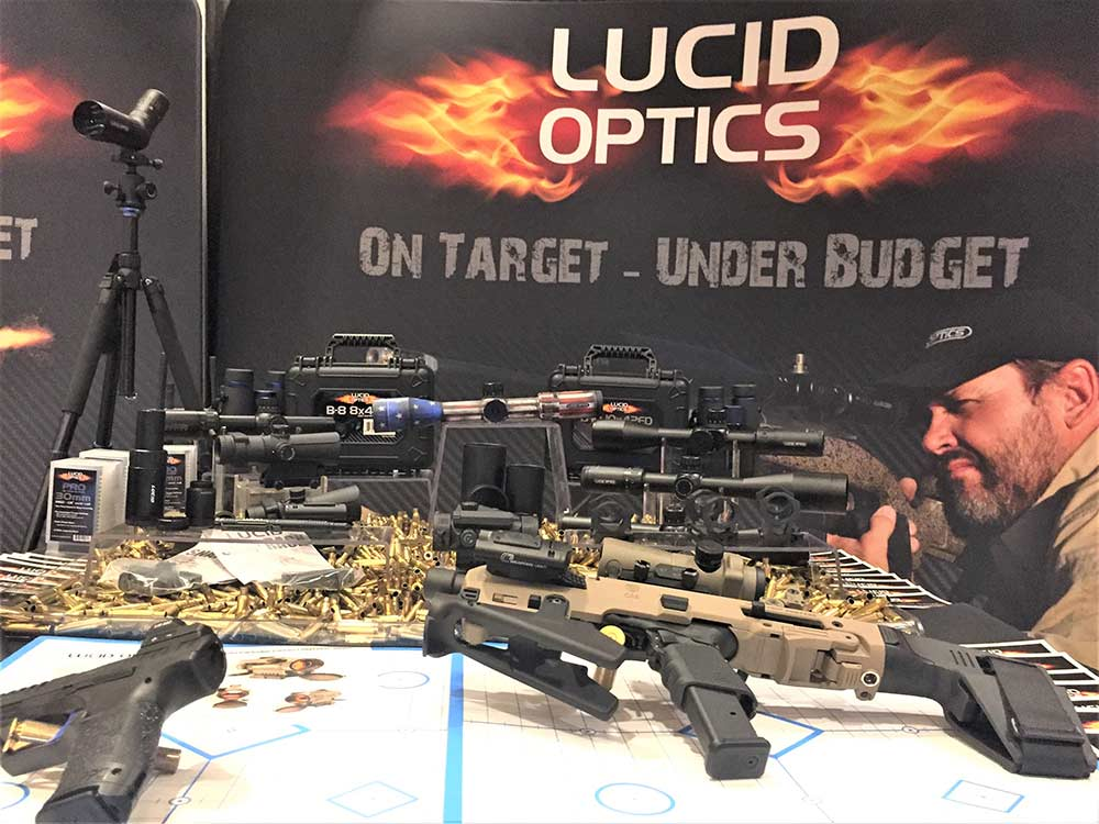 lucid optics booth at shot show