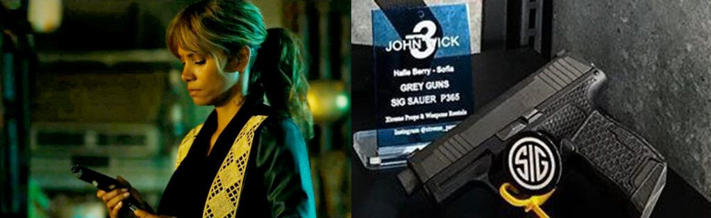 Sofia with her SIG Sauer P365 customized by Grey Guns.