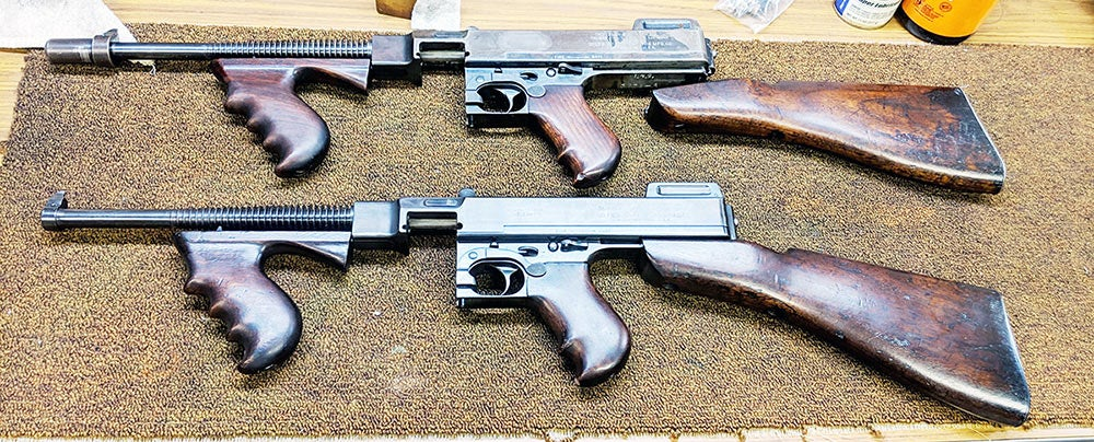 the tommy guns from the st valentines massacre