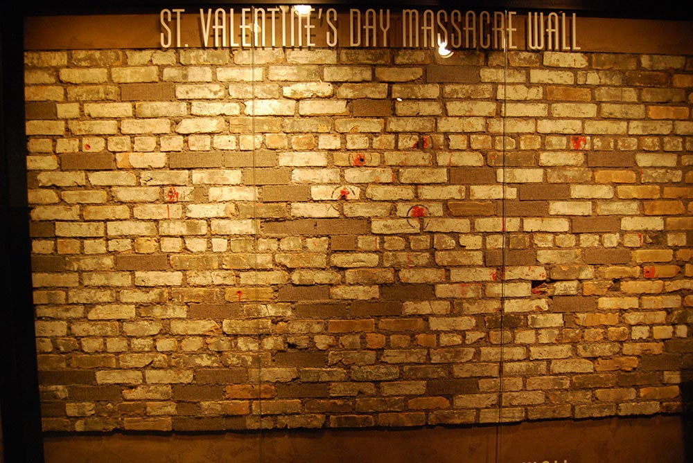 the wall from the st valentines massacre