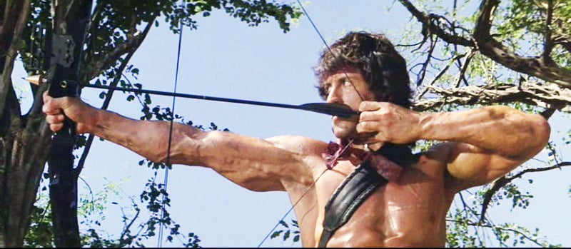 The bow used in the film was made by Hoyt, but it could not be broken down as depicted in the movie.