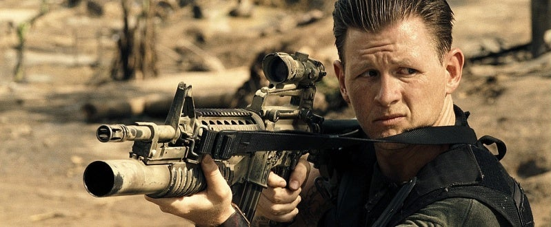 Reese (Jake La Botz) with his M4A1 with an M203 attached.