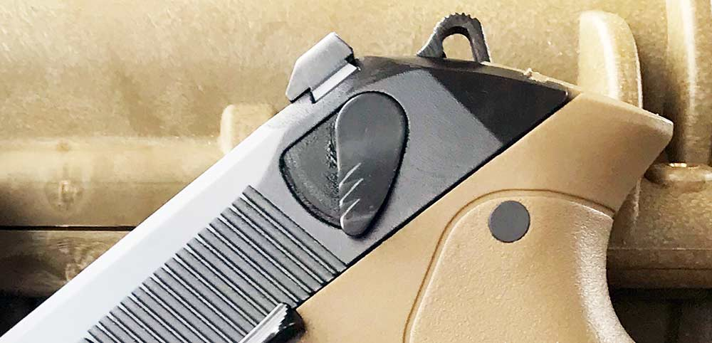 slide mounted safety of beretta px4