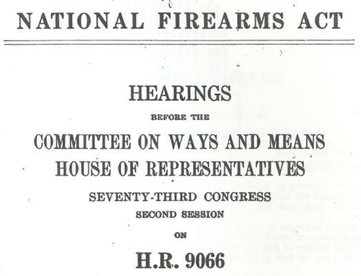 national firearms act cover