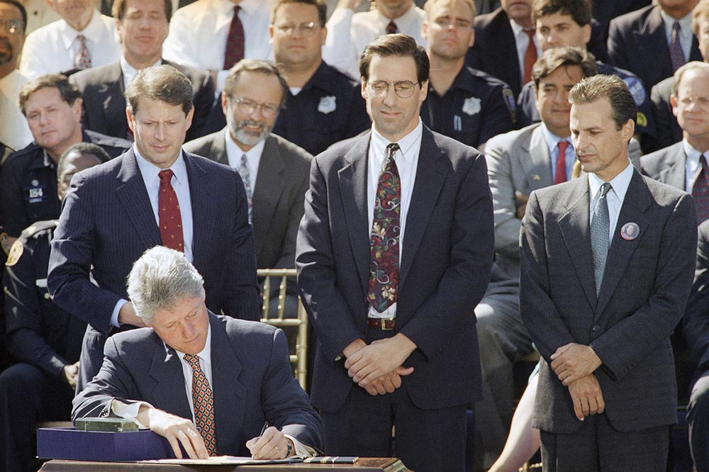 president clinton signing awb into law