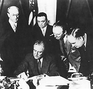 president franklin d. rooseevelt signs the nfa