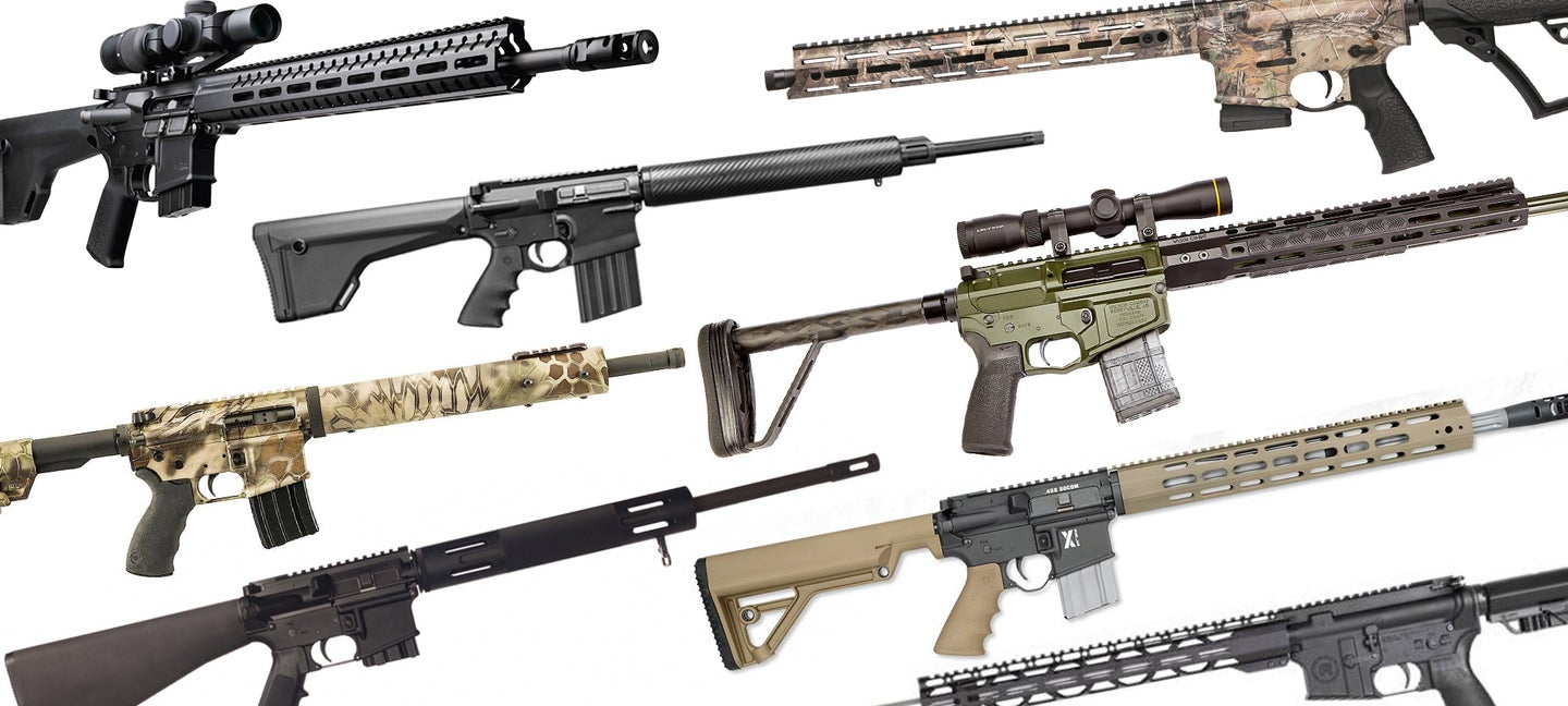 AR does NOT mean small bore. These rifles can take any big game in the world.