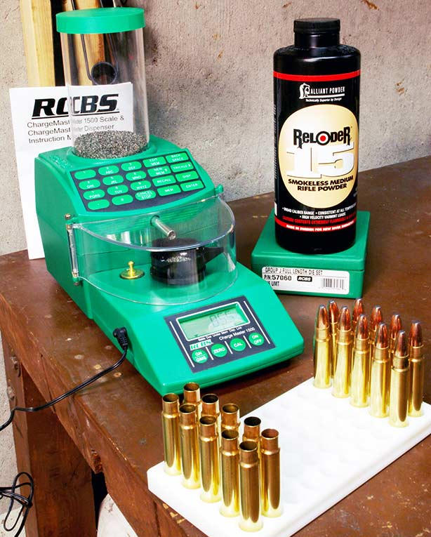 ammo reloading kit and loading block