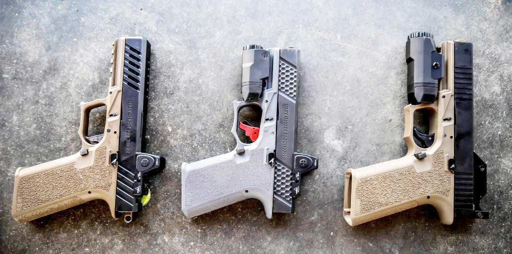 complete pistols made with polymer 80 frames