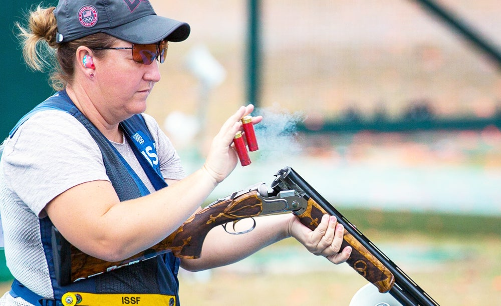 Kim Rhode at the 2016 Olympic Games in Rio.