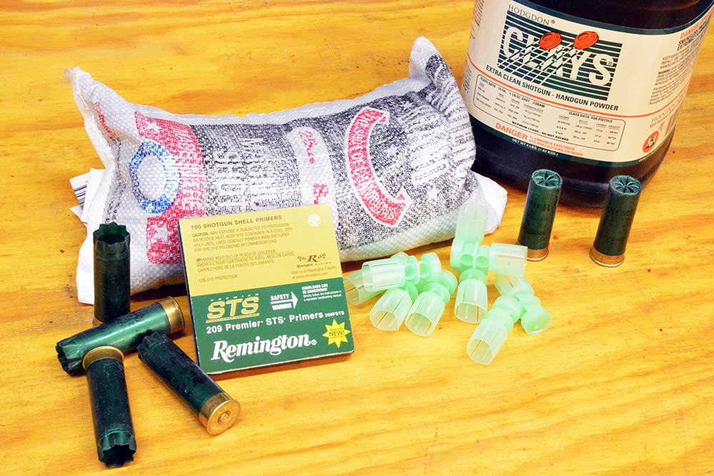 materials needed to reload shotgun shell ammo
