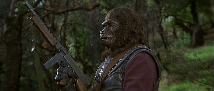 Guns of The Planet of the Apes Movies