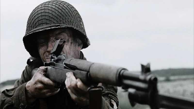 band of brothers movie still soldier aiming rifle
