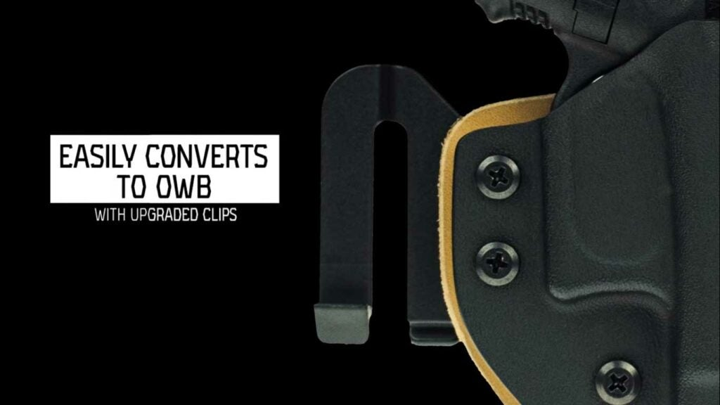 advertisement for crossbreed reckoning holster clips