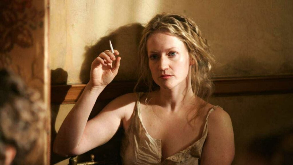trixie in deadwood played by paula malcomson