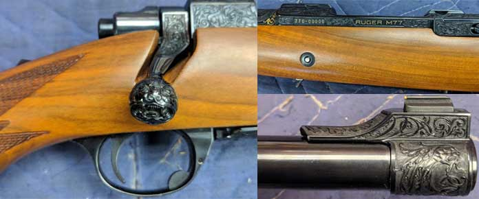 ruger engraved firearms detailed images