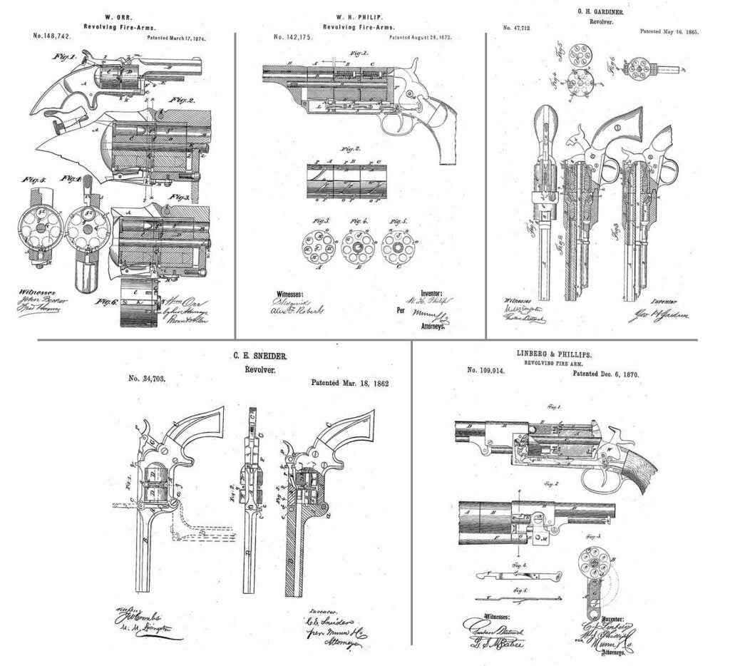 five different patents
