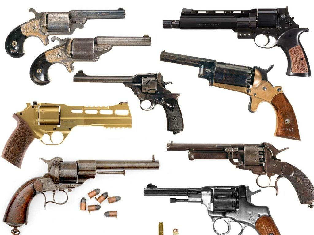collage of revolvers