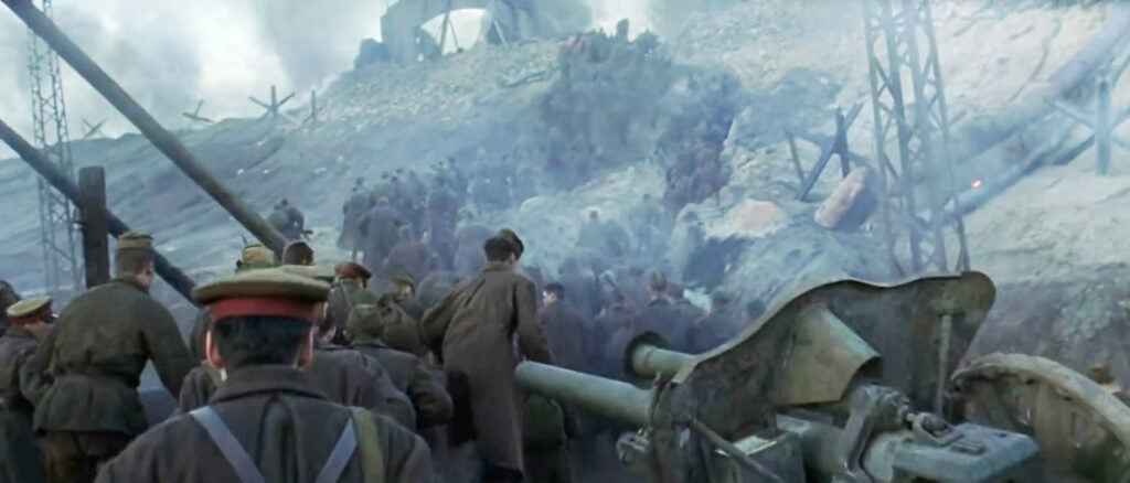 the 10.5 howitzer as seen in enemy at the gates