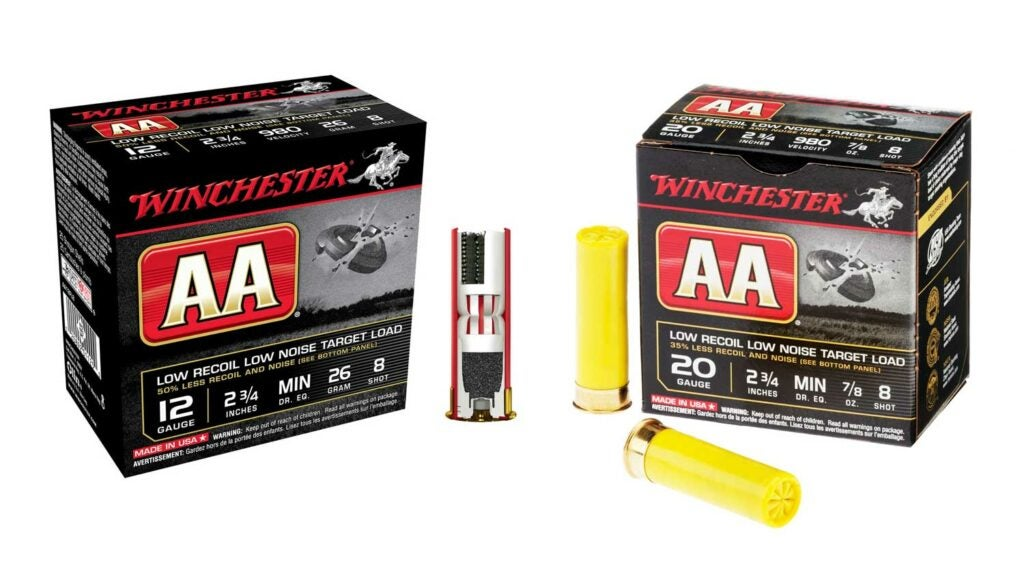winchester low recoil noise ammo