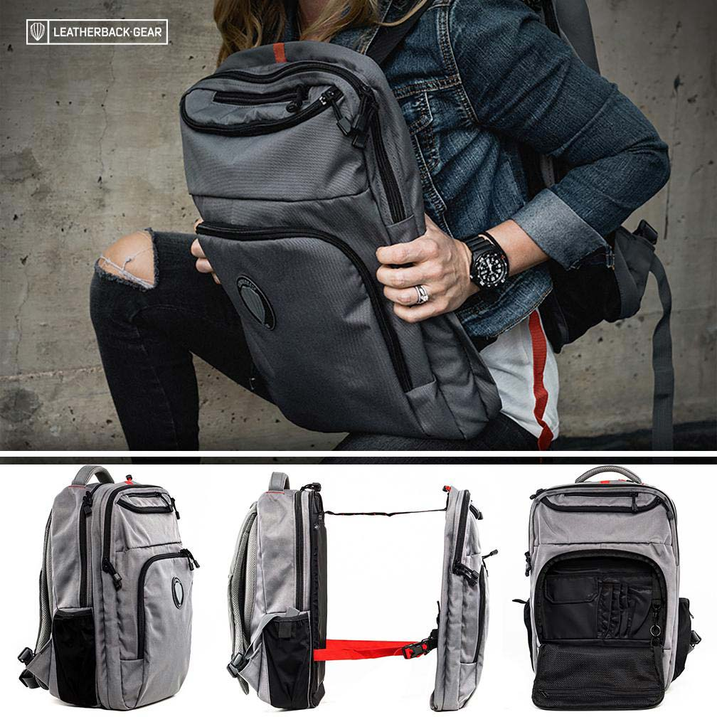 a steel-plate reinforced backpack for protection