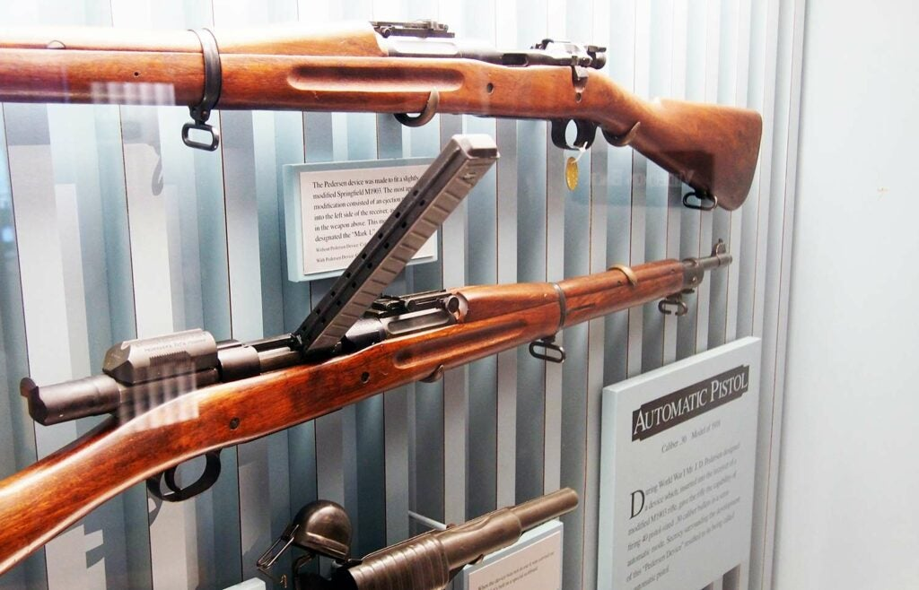 Springfield M1903 with a Pedersen Device attached